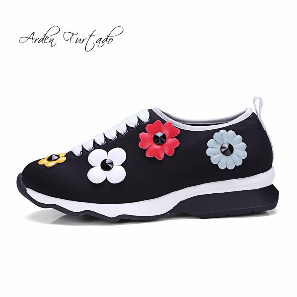 Black Furtado Mujer 2018 Slip Primavera Cruz Casual atado Nuevo Negros Moda Arden Estilo Flores Plataforma Otoño On Zapatos TqRHTwd