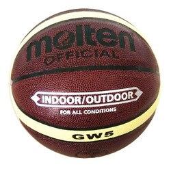 Фирменная корзина Molten GW5 Баскетбольный мяч из искусственной кожи официальный размер 5 детский баскетбольный мяч насос + Сетчатая Сумка + игл...