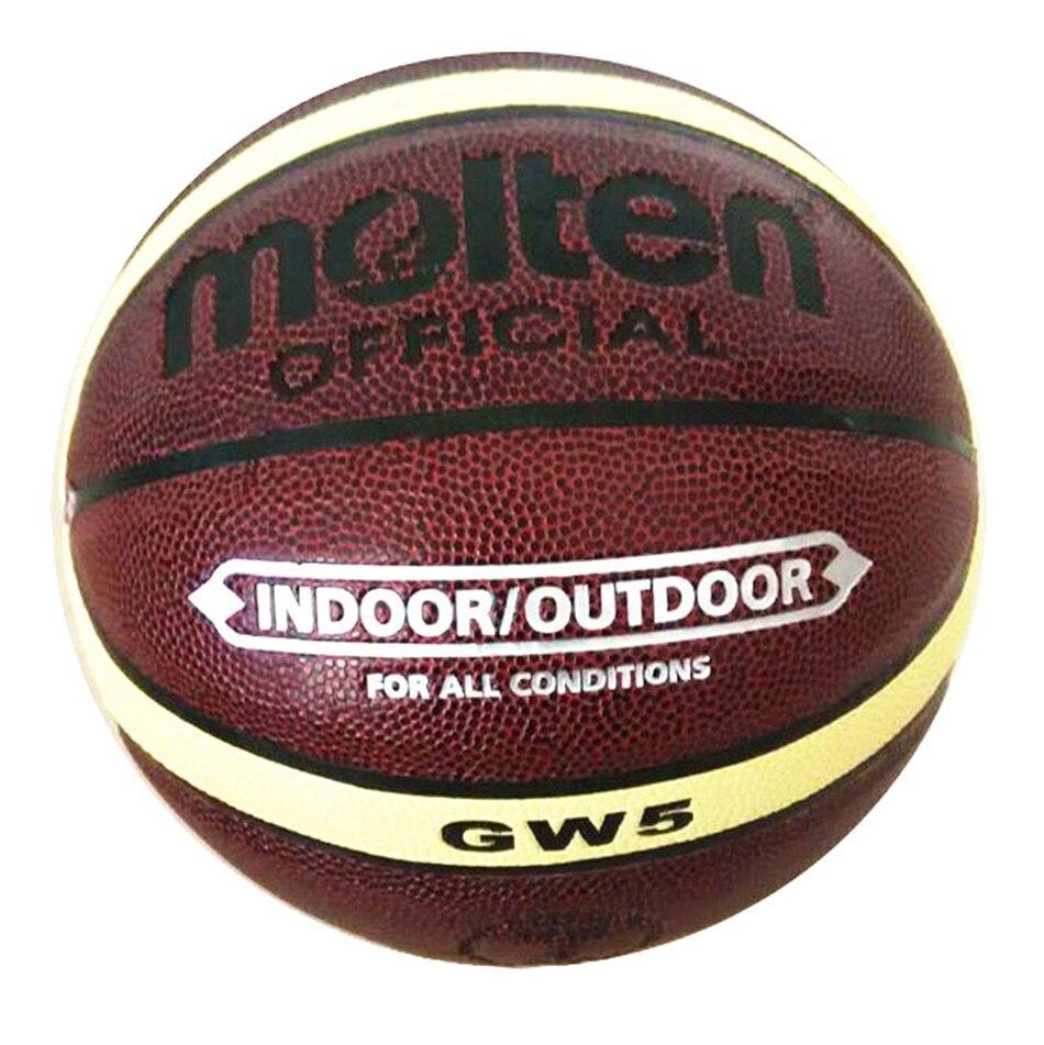 Brand Basket Molten GW5 Basketball Ball PU Materia Leather Official Size 5 Kid's Basketball Free Ball Pump+ Net Bag+ Needle