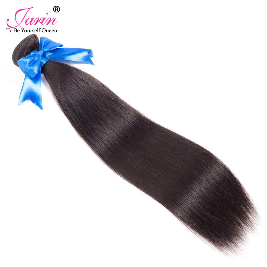 Peruvian Human hair Weave Bundles Straight Hair Natural Color 8-28 Hair Extensions Jarin Remy Human Hair Style 1pc 9A Grade #1B