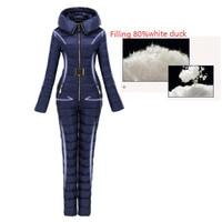 Верхняя одежда слегка лыжный костюм для женщин Integrated женский лыжный костюм открытый лыжный s супер теплая зимняя одежда комбинезон
