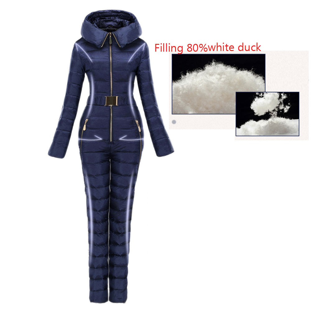 Outerwear Lightly Ski Suit Women Integrated Ski Suit Female Outdoor Ski Suits Super Warm Winter Clothing Coverall
