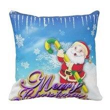 Funda de cojín decorativo de Navidad Vintage, funda de almohada para sofá cama cuadrada de algodón y poliéster de 5 tamaños y 9 estilos