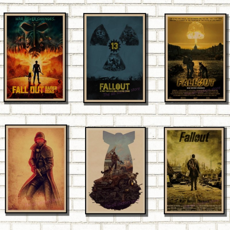 Fallout 3 4 Game Poster Fallout Series Game retro Poster
