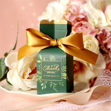 10pcs/lot Creative Wedding Day Decoration Candy Box With Ribbon Special Beautiful Vase Shape Party Favor Handmade Gift Boxes