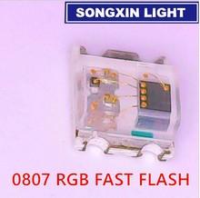 Diodo LED SMD de Alto brillo, 1000 Uds., flash de Diodo RGB de 0805, Flash de Alto brillo 0807 RGB, flash LED que cambia de Color rápido lentamente