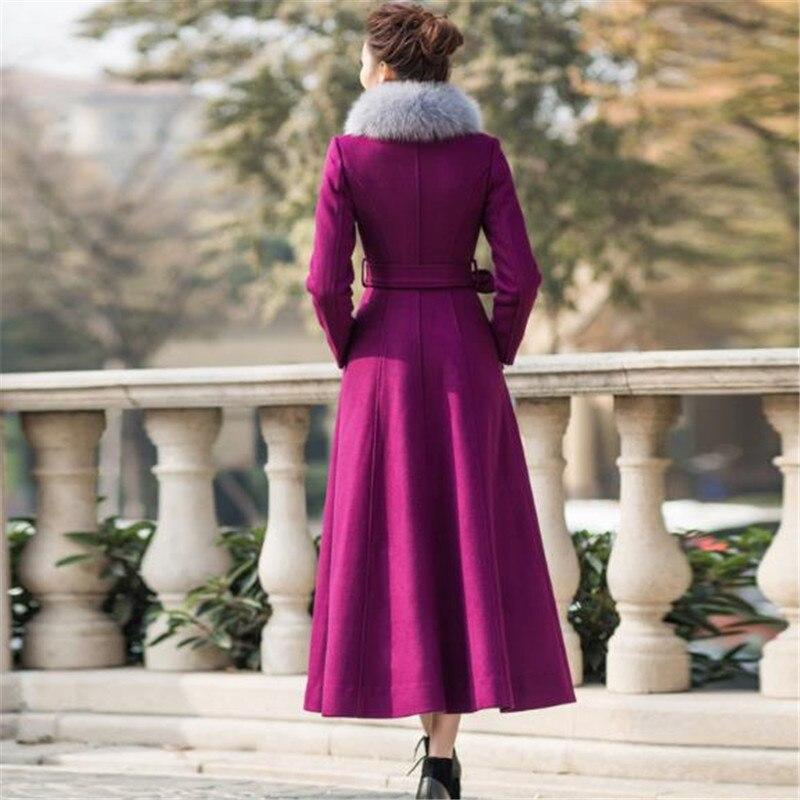 D'hiver Mode purple Taille orange Black red Veste Haute navy De Stand En red Féminine Cachemire blue Collier Manteau Femmes Wine La Nouveau Qualité Long Plus 2018 Laine RZgqWP51q