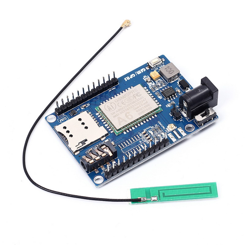 SIM900A GSM GPRS Module Antenna IPEX Interface DC 5-9V Input 6*4cm For Arduino Compatible STM32 51 MCU SCM General