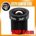 5 unids/lote 3MP 6mm lente HD 3MP lente CCTV lente del tablero para CCTV seguridad HD IP envío gratis