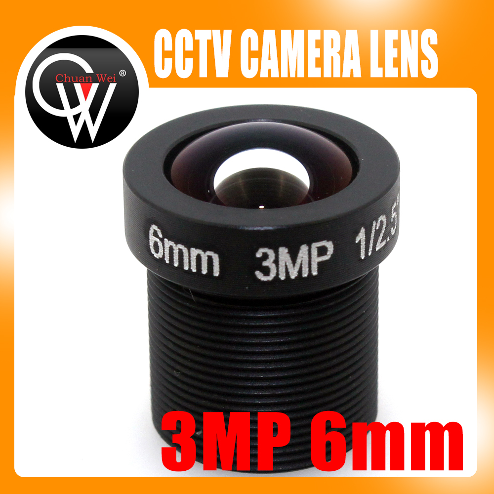 5pcs / lot 3MP 6mm objektiv HD 3MP objektiv CCTV ploče objektivi za CCTV HD sigurnosnu ip kameru Besplatna dostava