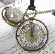 Steampunk Transparent Glass Ball Mechanical Pendant Pocket Watch Chain New PJX993