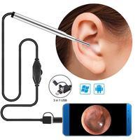 3-в-1 для чистки ушей эндоскоп Камера 3,9 мм 720p Hd 1,0 МП уха для осмотра борескопов отоскоп визуальный наушник инструмент без Батарея