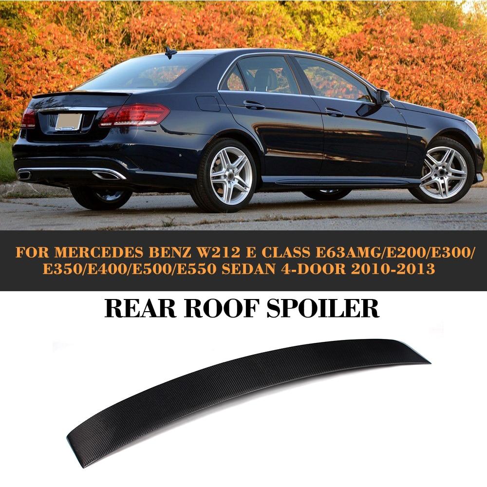 E Class Carbon Fiber Rear Roof Spoiler Wing for Mercedes Benz W212 Sedan 4 Door 2010-2013 E63 AMG E200 E300 E350 E400 E500 E550E Class Carbon Fiber Rear Roof Spoiler Wing for Mercedes Benz W212 Sedan 4 Door 2010-2013 E63 AMG E200 E300 E350 E400 E500 E550