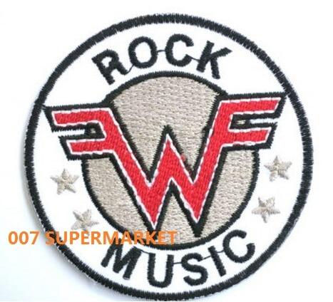 WEEZER zespół muzyczny żelazko na/Sew na łacie Tshirt TRANSFER motyw aplikacja Rock Punk odznaka w Łatki od Dom i ogród na  Grupa 1