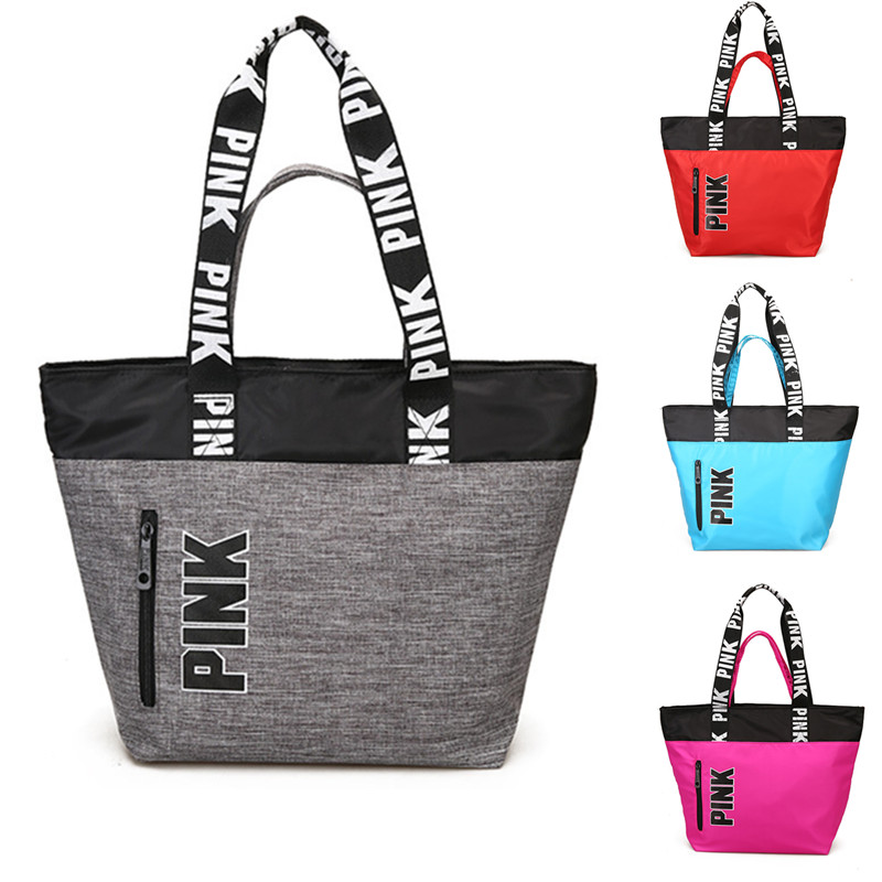 2019 Oxford PINK Multifunctional Outdoor Women Sport Bag Training Gym Bag Women's Sports Handbags Fitness Bag for Women(China)