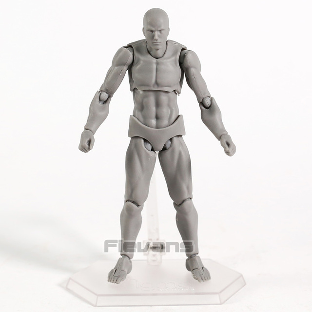 Body Figma Archetype Next He / She Flesh Gray Color Ver. Deluxe PVC Action Figure Collectible Model Toy 2