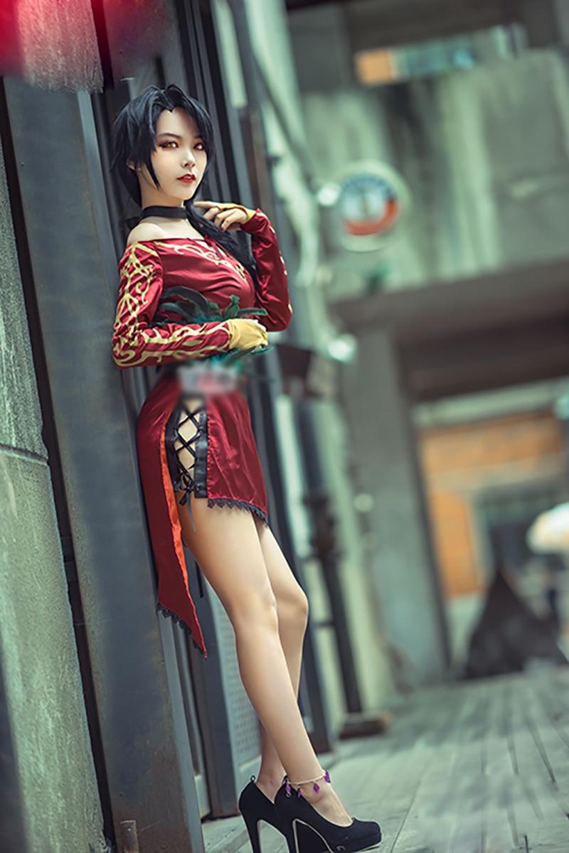 Осеннее платье аниме Cinder, карнавальный костюм с аксессуарами, женское сексуальное красное платье на Рождество - 5