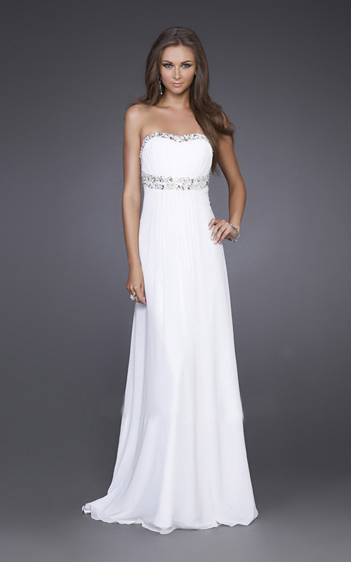 Popular Long White Formal Dresses for Juniors-Buy Cheap Long White ...