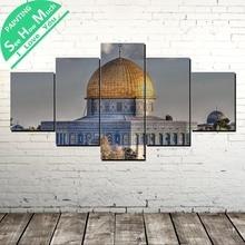 Лучший!  5 шт. Купол мечети Wall Art Холст Плакат и Печать Холст Картины Декоративные Картины для Гостиной  Лучший!