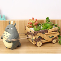 Decorative Plant Pot Novelty Totoro Resin Flavored flower pot Gardening supplies decoration Potted Plant Gifts for Children