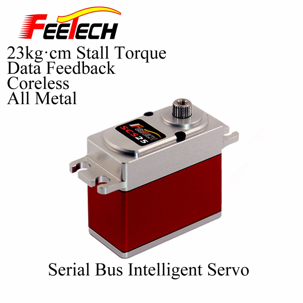 Robot Serial Bus Intelligent Servo, Feetech SCS25 Servo, 23kg cm Torque, All Metal, Coreless, Data Feedback Function