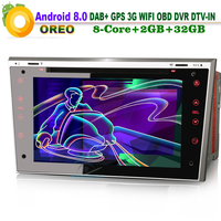 7Android 8.0 Head Unit GPS DVR OBD CD Car DVD player Navi Wifi MP3 Player DAB+ Radio DTV IN for Opel Antara Astra H Combo from