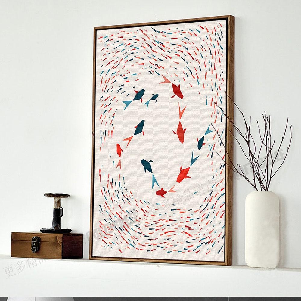 Երկրաչափություն ձուկ. Մինիմալիստական - Տնային դեկոր - Լուսանկար 3