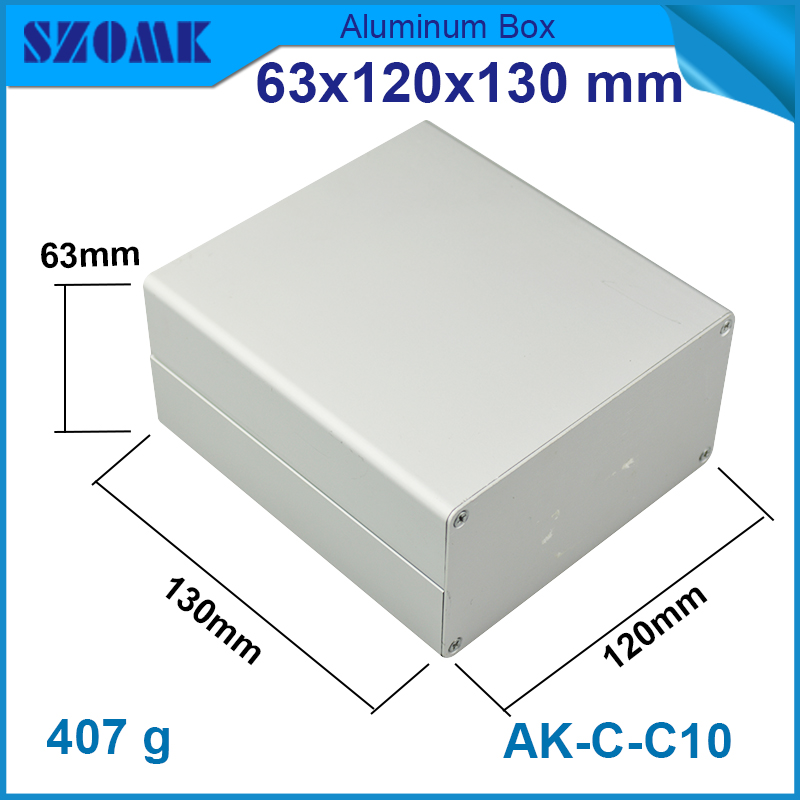10 pcs /lot aluminum instrument case enclosures 63*120*130 mm  aluminium project box case 1 piece free shipping small aluminium project box enclosures for electronics case housing 12 2x63mm
