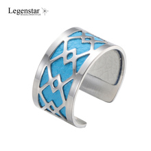 Legenstar New Creative Geometric Rings For Women 2019 Stainless Steel Resizable Bijoux DIY Reversible Leather Ring Bague Femme