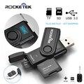 Rocketek одновременно читать 2 карт Памяти USB 3.0 Card Reader 2 Слотов OTG телефон Кард-Ридер для SD, micro SD, TF, micro sdhc sdxc
