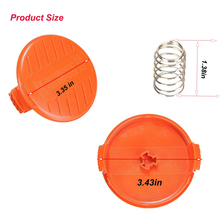 For Black&Decker 3 Pcs AFS RC-100-P Replacement Spool Cap & Spring Fit For Black & Decker Trimmer Accessories