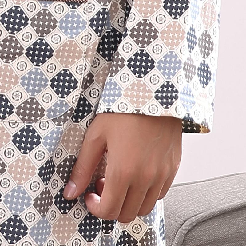 Men Robe Autumn Long Sleeve Nightgown Cotton Knit Bathrobe Big Size L-4XL Pyjamas Mens Nightwear