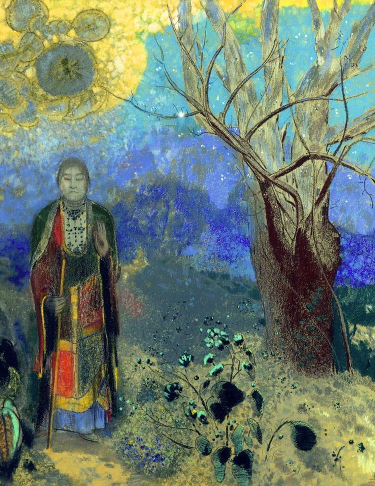 Portrait Abstrait Toile Peinture Surrealisme Chef D œuvre Geant Affiche Murale Imprime Le Bouddha 1906 1907 Par Odilon Redon Aliexpress