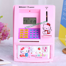 Creative Mini ATM teller machine piggy bank piggy bank password electric voice children's educational toys gift