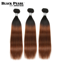 Black Pearl Pre Colored Ombre Brown Human Hair Bundles 300g Brazilian Hair Weave Bundles 3pcs Remy Human Hair Extension T1b30