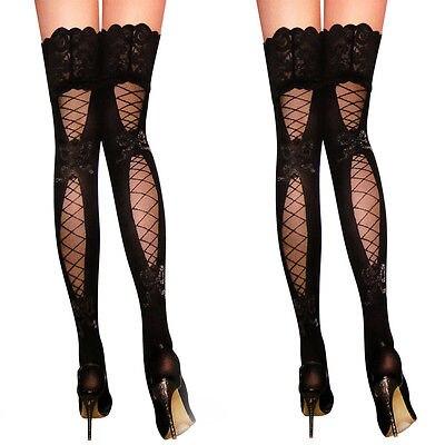 Large Hole Suspender Stockings Tights Net Hosiery Lingerie Fishnet Pantyhose S-L