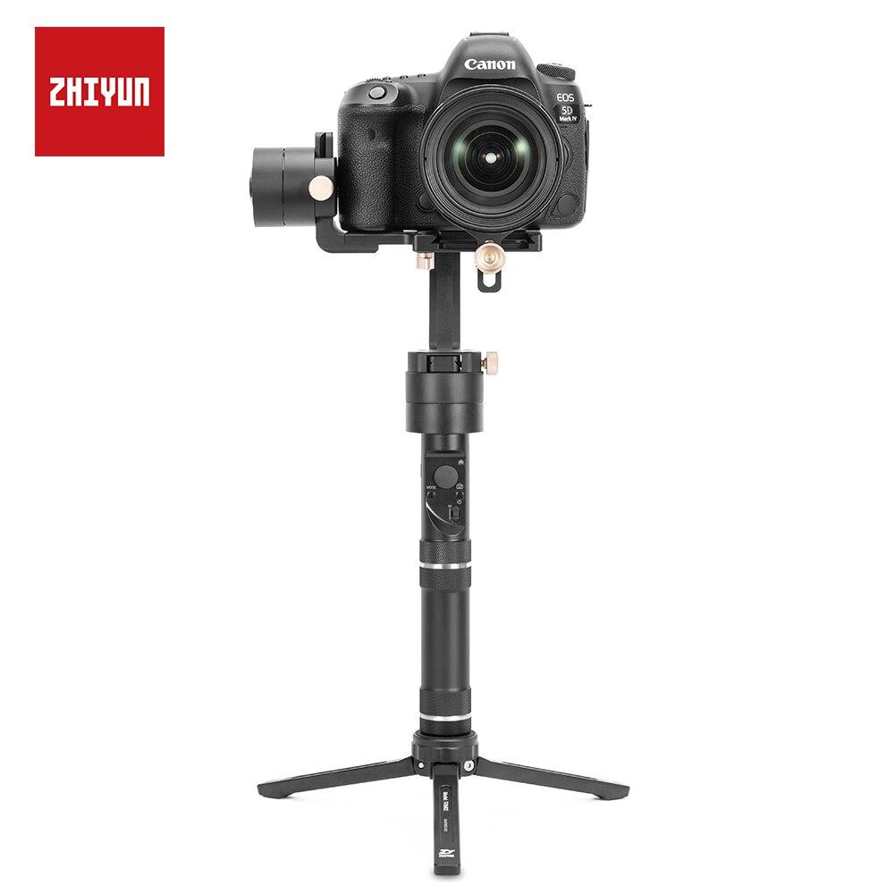 ZHIYUN grue Plus stabilisateur 3 axes équilibre rapide cardan motorisé pour appareil photo sans miroir DSLR, prise en charge 2.5KG POV Mode portable