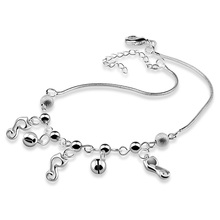 girl anklets.Cute anklets.Charming 925