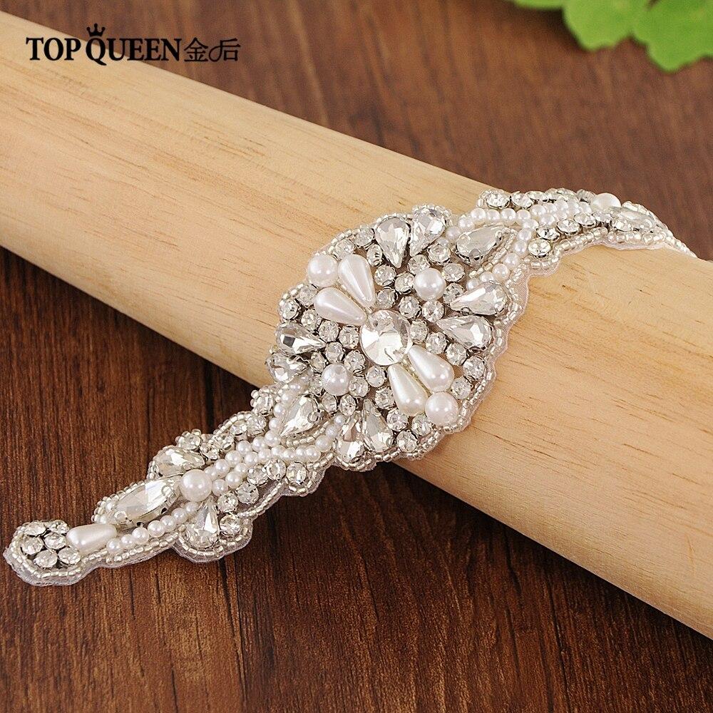 Topqueen S29-a Freies Verschiffen Lager Diy Formale Hochzeit Diamanten Applique Abendkleider Trimmen Schnelle Lieferung Braut Blets