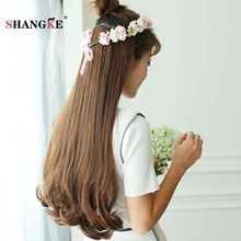 """SHANGKE 26"""" Long Clip In Extensions Clip In Synthetic Hair Pieces Heat"""