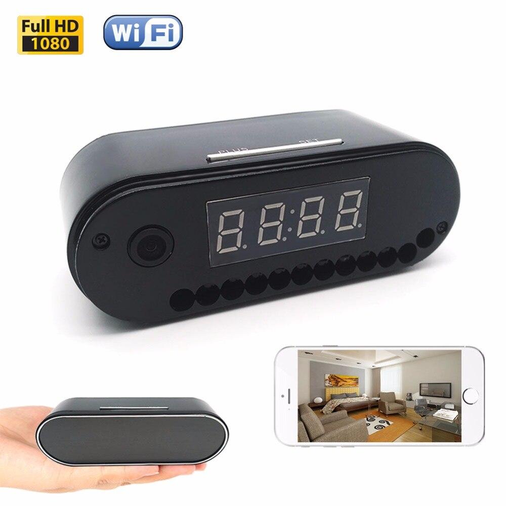 Mini Clock Camera Full HD 1080P H.264 Table Clock Camera Alarm Set IR Night Vision Wifi Mini Livecam DV Remote Control Camcorder