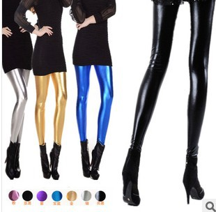 cfb39579 ₪Nowy kobiety legginsy Skórzane legginsy Fitness Czarne Spodnie ...