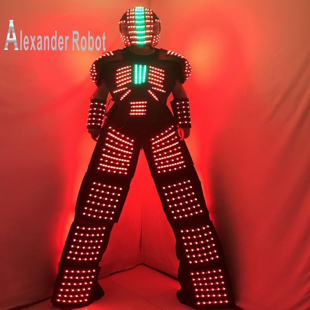 Costume de robot de LED/Costume de LED/vêtements de LED/costumes légers/costumes de Robot de LED
