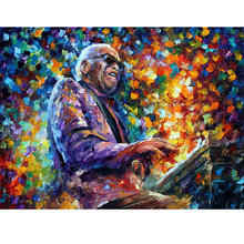 Hand Painted Landscape Abstract Ray Charles Palette Knife Modern Oil Painting Canvas Art Living Room hallway Artwork Fine Art