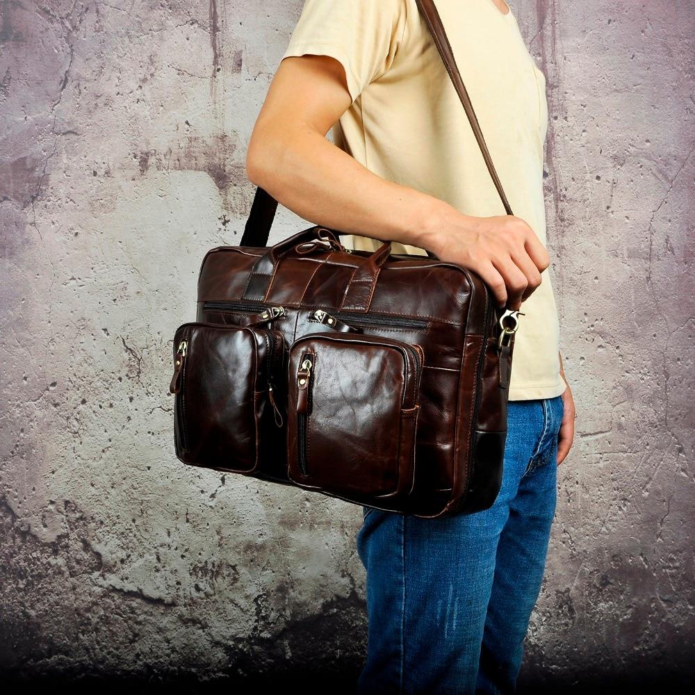 Men Oil Waxy Leather Antique Design Business Travel Briefcase Laptop Bag Fashion Attache Messenger Bag Tote Men Oil Waxy Leather Antique Design Business Travel Briefcase Laptop Bag Fashion Attache Messenger Bag Tote Portfolio Male k1013