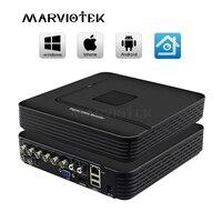 8CH 1080N AHD Mini DVR System ONVIF Mini NVR 1080P 16CH 5in1 TVI CVI AHD IP HDMI P2P Cloud network CCTV NVR AHD Video Recorder