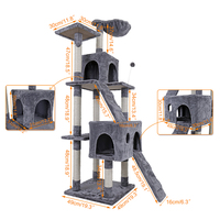 Domestic Delivery Large Cat High 175 Cm Toy Cat House Tree Pet Furniture Scratched Wooden Tree
