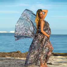 Maternity Dress for Photo Shoot Maxi Maternity Gown Pregnant Woman Photography Props Clothes aternity Chiffon Gown YL543 все цены