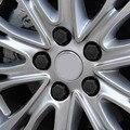 20 Pçs/set 19/21mm 19 #21 # Silicone Oco Hexagonal Parafuso Da Tampa Da Roda de Carro Hub Caps Pneus Decoração Exterior Proteger Preto