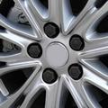 20 Unids/set 19/21mm 19 #21 # de Silicona Hueca Hexagonal Tornillo Cubierta de Rueda de Coche Hub Caps Neumáticos Decoración Exterior de Protección Negro